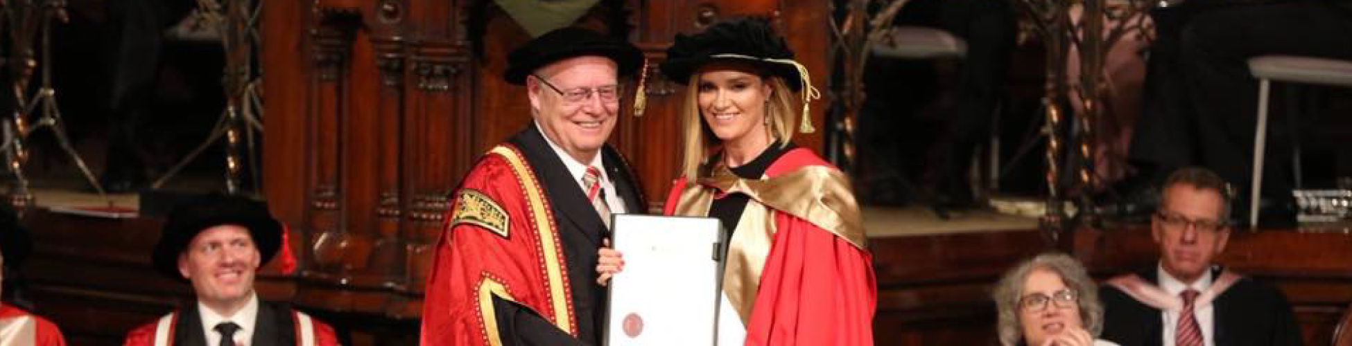 Dr Julia Baird received the Doctor of Divinity (honoris causa) from the Chancellor